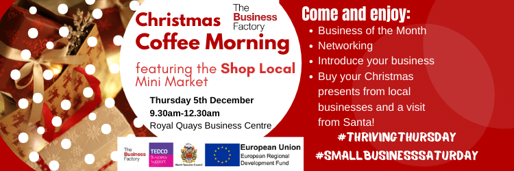 Business of the Month Coffee Morning – Thursday 5th December at 9.30am