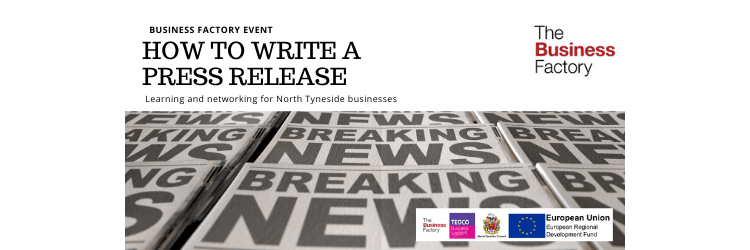 How To Write a Press Release | Monday 17th February at 9.30am